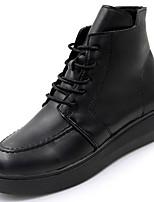 Недорогие -Для женщин Обувь Резина Зима Армейские ботинки Ботинки Круглый носок Назначение Черный