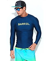 Per uomo Asciugatura rapida Elastico Scafandro Manica lunga Sub e immersioni Tavole da surf Tinta unita