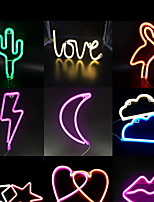 1Pc Creative Stylish Neon LED Night Light Soft Artware Multi Options Battery&USB Powered Without Battery