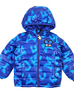 Ski Jacket Boys' Snow Walking Ski & Snowboard Winter Sports Snowshoeing Thermal / Warm Windproof Breathability Cotton Down Jacket