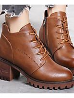 Недорогие -Для женщин Обувь Полиуретан Осень Зима Удобная обувь Ботильоны Ботинки Назначение Повседневные Черный Желтый