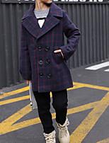 Boys' Check Trench Coat