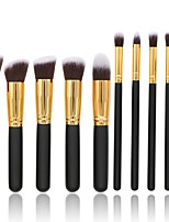 cheap -10 pcs Makeup Brush Set Synthetic Hair Full Coverage Wood Blush