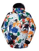 Men's Ski Jacket Warm Waterproof Windproof Wearable Breathability Skiing Ski/Snowboarding Eco-friendly Polyester Silk Cloth