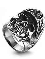 Men's Statement Rings Casual Fashion Hiphop Cool Stainless Steel Skull Jewelry Jewelry For Daily Casual