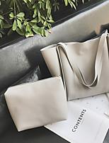 cheap -Women Bags PU Bag Set Pockets for Casual All Season Red Blushing Pink Dark Gray Light Gray Brown