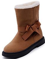 preiswerte -Damen Schuhe Gummi Winter Schneestiefel Stiefel Runde Zehe Für Schwarz Beige Braun