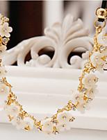Declaración de mujer collares flor margarita rhinestone aleación joyería de moda natural para la fiesta diaria