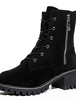 cheap -Women's Shoes PU Spring Fall Comfort Boots For Outdoor Black