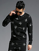 Men's Daily Sweatshirt Print Cotton