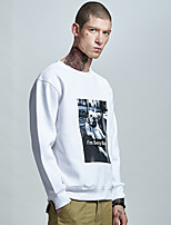 cheap -Men's Daily Sweatshirt Print Cotton