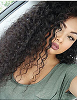 Women Human Hair Lace Wig Brazilian Human Hair Lace Front 130% Density Bob Haircut With Baby Hair Kinky Curly Wig Chestnut Brown Medium