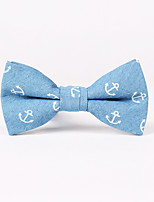 Men's Rayon Cotton Blend Bow Tie,Bow Print All Seasons