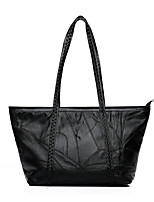 cheap -Women Bags PU Tote Zipper for Shopping Casual All Season Black