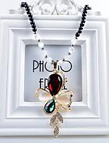 Women's Pendant Necklaces Crystal Alloy Pendant Necklaces , Fashion European Gift Daily
