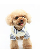 Dog Sweater Dog Clothes Stylish Solid White Gray Blue Pink