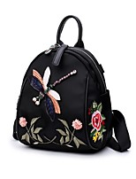 cheap -Women Bags Nylon Backpack Zipper for Casual All Season Black