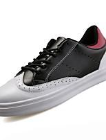 Недорогие -Для мужчин обувь Полиуретан Весна Осень Удобная обувь Кеды Назначение Повседневные Белый Черный Черно-белый