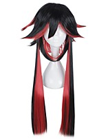 cheap -Women Synthetic Wig Capless Medium Length Long Black/Red Halloween Wig Cosplay Wig Costume Wig