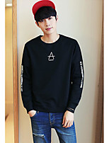 cheap -Men's Daily Sweatshirt Solid Polyester
