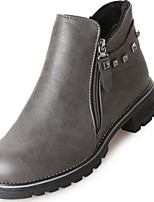 preiswerte -Damen Schuhe Gummi Winter Springerstiefel Stiefel Runde Zehe Für Schwarz Grau
