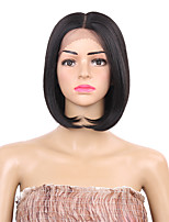Women Synthetic Wig Lace Front Short Black Middle Part Bob Haircut Natural Wigs Costume Wig