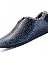 Homme Chaussures PUT Printemps Automne Doublure en fourrure Mocassins et Chaussons+D6148 Pour Décontracté Marron Bourgogne Vert foncé