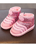 cheap -Girls' Shoes Other Animal Skin Spring Fall Comfort Snow Boots Boots For Casual Pink Red Black