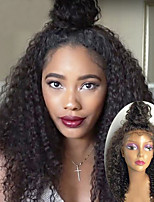 cheap -Kinky Curly Lace Front Wigs Unprocessed Brazilian Human Hair Wigs 8''-30'' 100% Virgin Human Hair With Natural Hairline With Baby Hair For Women