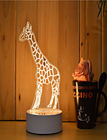 1 Set Of Decorative Acrylic 3d Night Light LED Bedroom Lamp Mood Lamp, Hand Scanning, Dimming, Color Change, 3W, Giraffe