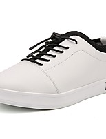 cheap -Men's Shoes PU Fall Comfort Sneakers For Casual Black White