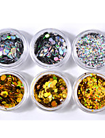 cheap -Nail Glitter Laser Holographic Nail Jewelry Sequins 0.04kg/box