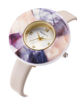 Women's Casual Watch Fashion Watch Wrist watch Chinese Quartz Casual Watch Leather Band Casual Elegant White Blue Pink Purple Beige Rose