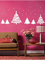 Botanical Wall Stickers Christmas Trees Decorative Wall Stickers,Bonded Material Home Decoration Wall Decal