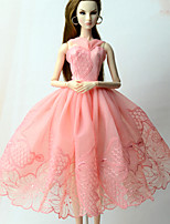 cheap -Dresses Dress For Barbie Doll Pink Dress For Girl's Doll Toy