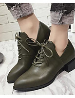 cheap -Women's Shoes Leatherette Spring Fall Comfort Combat Boots Boots For Casual Army Green Black
