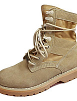 cheap -Women's Shoes Nubuck leather Fall Winter Comfort Combat Boots Boots For Casual Khaki