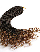 1pc sengegalese twist curled end 16inch pre-loop crochet kinky twist synthetic crochet braided hair curly end 30strands/pc 6pc one head