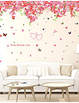 Floral/Botanical Wall Stickers Plane Wall Stickers Decorative Wall Stickers,Vinyl Material Home Decoration Wall DecalFor