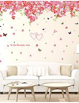 A fleurs/Botanique Stickers muraux Autocollants avion Autocollants muraux décoratifs,Vinyle Décoration d'intérieur Calque Mural For Mur