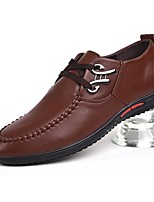 Men's Shoes PU Spring Fall Comfort Oxfords For Casual Office & Career Blue Brown Black