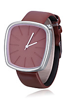cheap -Men's Women's Casual Watch Chinese Quartz PU Band Minimalist Black Brown