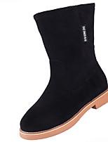 preiswerte -Damen Schuhe PU Frühling Herbst Komfort Stiefel Für Schwarz Braun Burgund