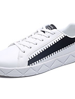 Недорогие -Для мужчин обувь Полиуретан Весна Осень Удобная обувь Кеды Назначение Повседневные Белый Черный Серый