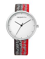 Mulheres Relógio Casual Relógio de Moda Relógio de Pulso Chinês Quartzo Impermeável Tecido Banda Casual Elegant Minimalista Preta Branco
