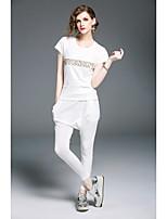 T-shirt Pantalone Completi abbigliamento Da donna Casual Semplice Tinta unita