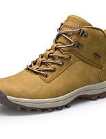 Недорогие -Для мужчин обувь Дерматин Весна Осень Удобная обувь Кеды Назначение Повседневные Черный Темно-русый Темно-коричневый
