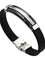 Men's Women's Link Bracelet , Classic Leather Stainless Line Jewelry For Daily