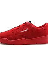 Men's Shoes Nubuck leather Spring Fall Comfort Sneakers For Casual Black Gray Red