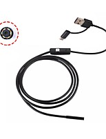 abordables -3 en 1 android endoscopio usb camera inspección boroscopio 8mm lente 1 m cable ip67 serpiente impermeable cámara para pc windows